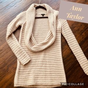 Tan Open Front Sweater